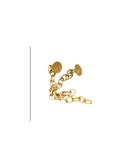 Botón Lingual Cadena Golden (Dorado)